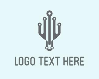Tentacles - Robotic Octopus logo design