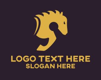 Show Jumping - Keyhole Horse logo design