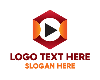 Tv Series - Hexagon Play  logo design