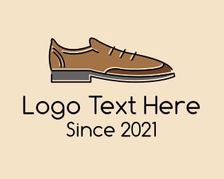 Red Shoe - Brown Leather Shoe logo design