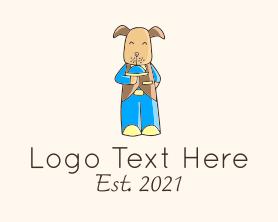 Restaurant - Dog Waiter Mascot logo design