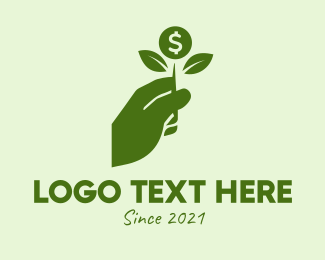 Monetary - Green Money Savings Grow  logo design
