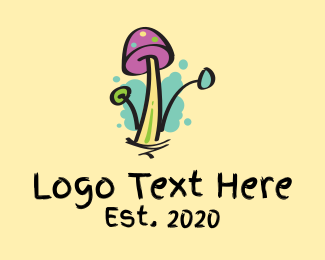 Mascot - Graffiti Mushroom Cartoon logo design