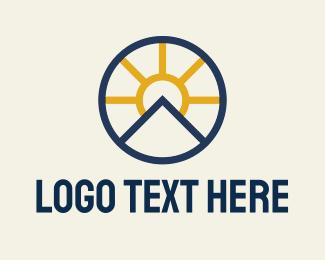 Daytime - Sun Mountain Badge logo design