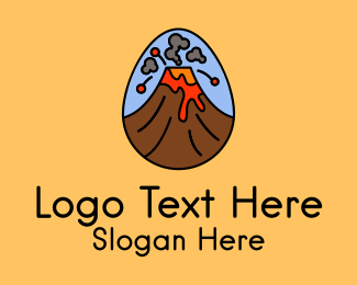 Lava - Volcano Eruption  logo design