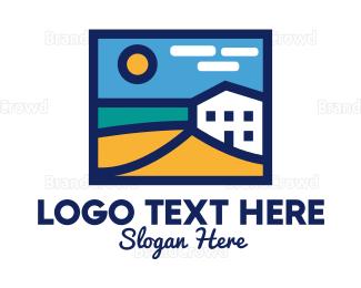 Mykonos - Beach Hotel logo design