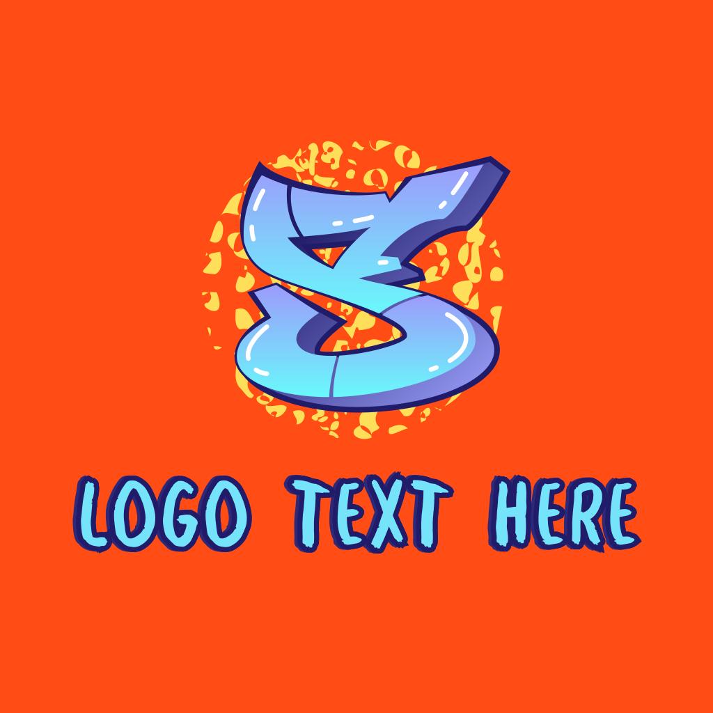 Shiny Graffiti Letter S Logo