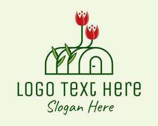 Tulips - Flower Greenhouse  logo design