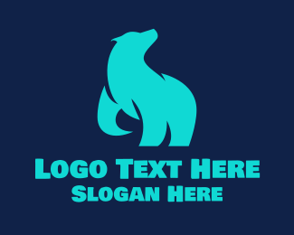 Polar - Cyan Polar Bear logo design