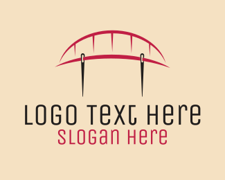 Thread - Sewing Bridge  logo design