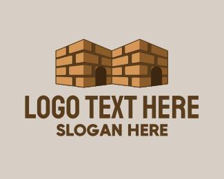 Motel - Brick House Contractor logo design