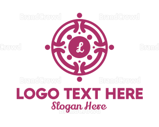 Lettermark - Wreath Lettermark logo design