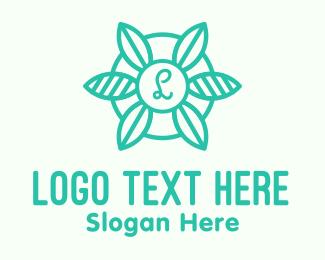 Agricultral - Green Organic Letter logo design