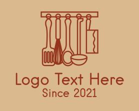 Restaurant - Cooking Utensils Outline logo design