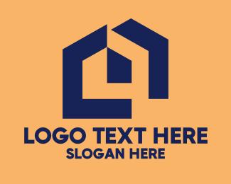Pentagon - Abstract House Pentagon logo design