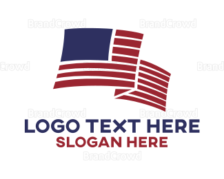 New Jersey - Windy American Flag logo design