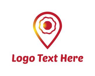 Orange And Red - Red Locator logo design