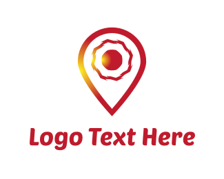Point - Red Locator logo design