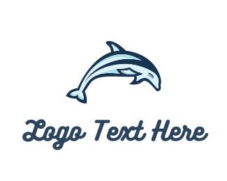 Maritime - Dolphin Jumping logo design