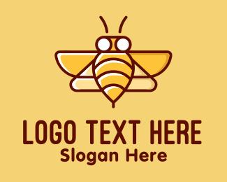 Bee Sting - Yellow Bumblebee Bee logo design