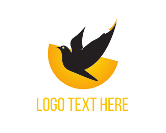 Free - Black Bird  logo design