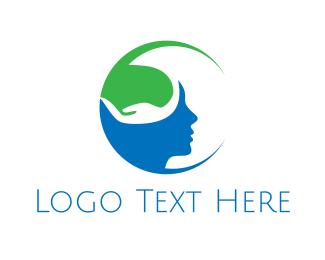 Psychology - Green Mind logo design