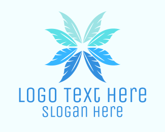 Charm - Feather Flower logo design