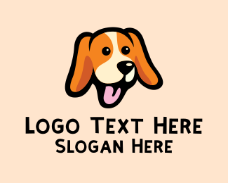 Plushie - Happy Beagle Puppy Dog logo design