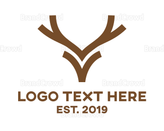 Reindeer - Minimalist Reindeer  logo design