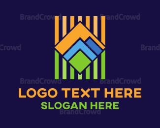 Outdoor - Geometric Landscape logo design