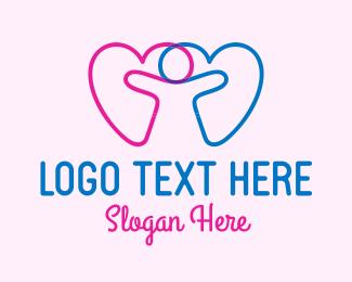 Child - Child Love Hearts logo design