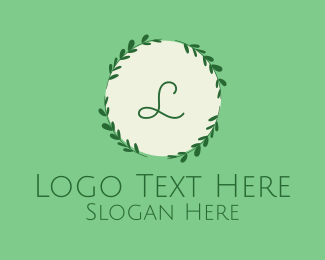 Instagram - Mint Lettermark Wreath logo design