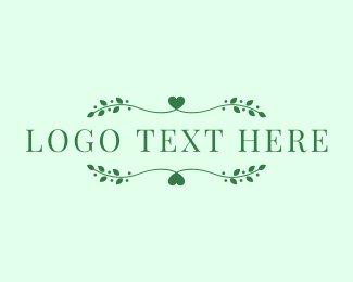 Lover - Nature Lover Text logo design