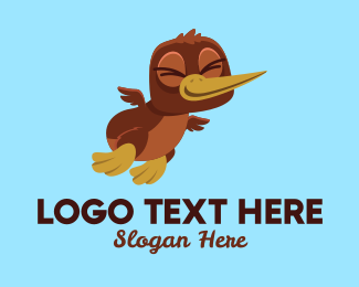 Cute Brown Duckling Logo
