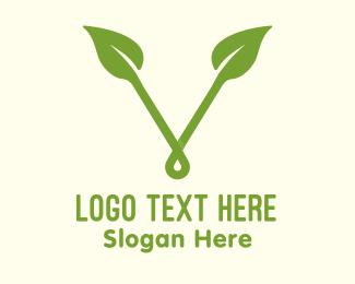"""""""Organic Leaf Letter V"""" by MusiqueDesign"""