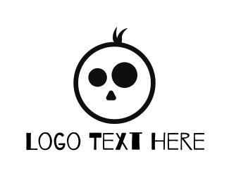 Cranium - Boy Skull logo design