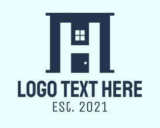 Real Estate - Home Realty Letter H logo design