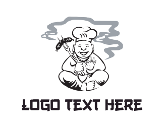 Bbq - Smoking Chef logo design
