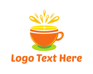 Orange Tea Cup Logo