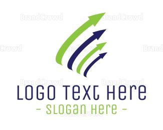 Currency - Financial Growth Arrows logo design