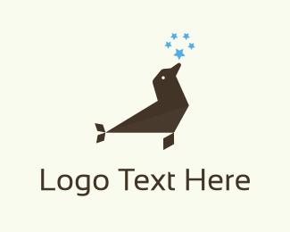 Polar - Seal & Stars logo design