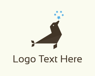 Antarctic - Seal & Stars logo design