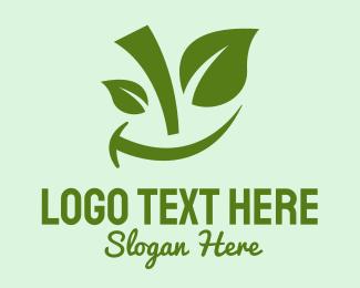 Smile - Green Smile Fruits logo design