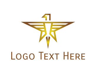Gold Star - Gold Eagle Star logo design