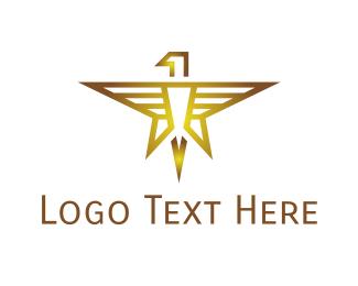 Politician - Gold Eagle Star logo design