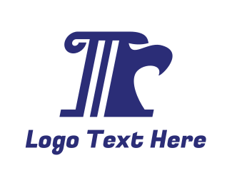 Realty Agent - Blue R Pillar logo design