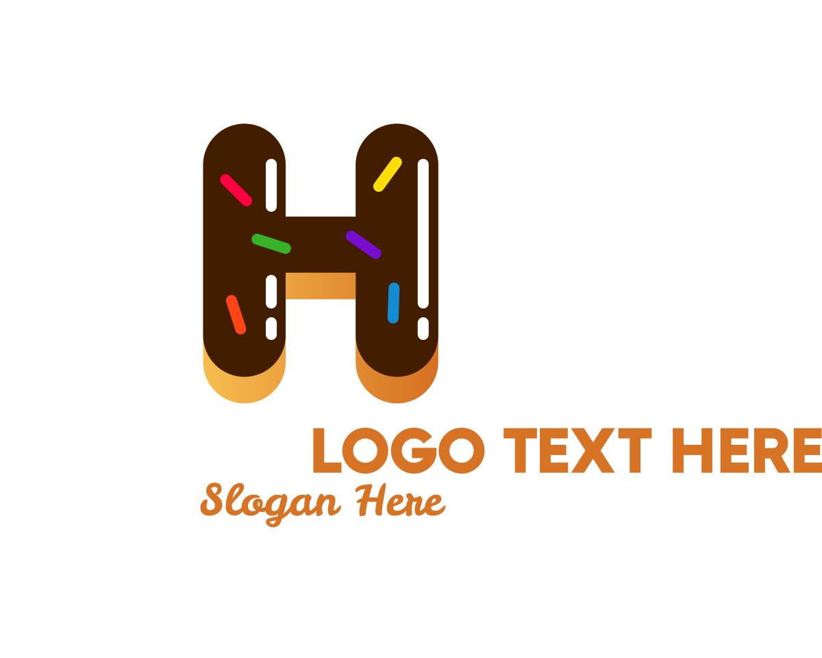 Donut Bakeshop Letter H Logo