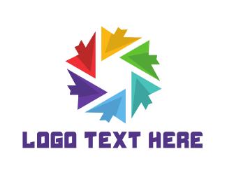 Click - Arrow Circle logo design