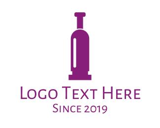 Purple Wine - Purple Bullet Wine logo design