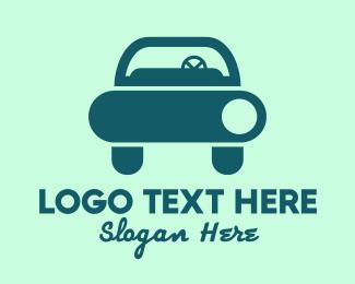 Car Style - Blue Sedan Car logo design